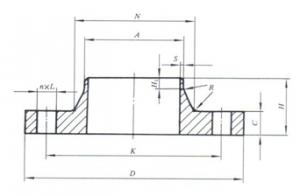 卫生级对焊管法兰(A型)