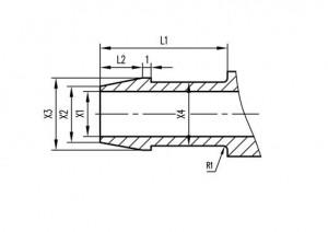 图2. 12无菌螺纹管接头(C型)