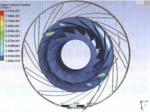 图9叶轮进口压力分布1