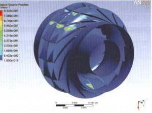 图9叶轮进口压力分布2