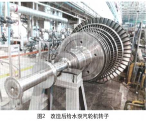 改造后给水泵汽轮机转子