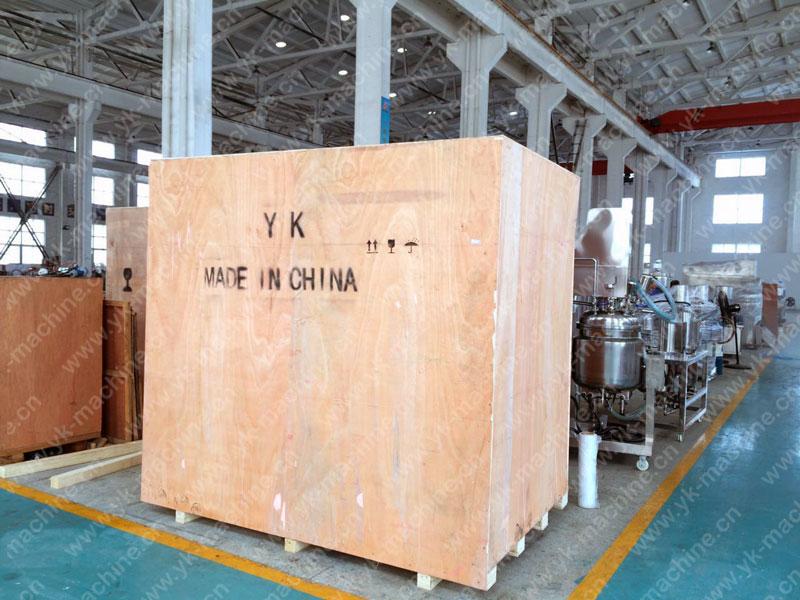 真空均质乳化机发往乌兹别克斯坦