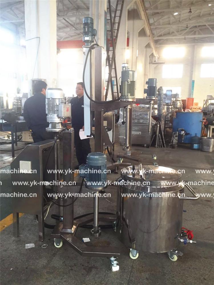 土耳其LR-100L 高速乳化均质机 进入试机阶段