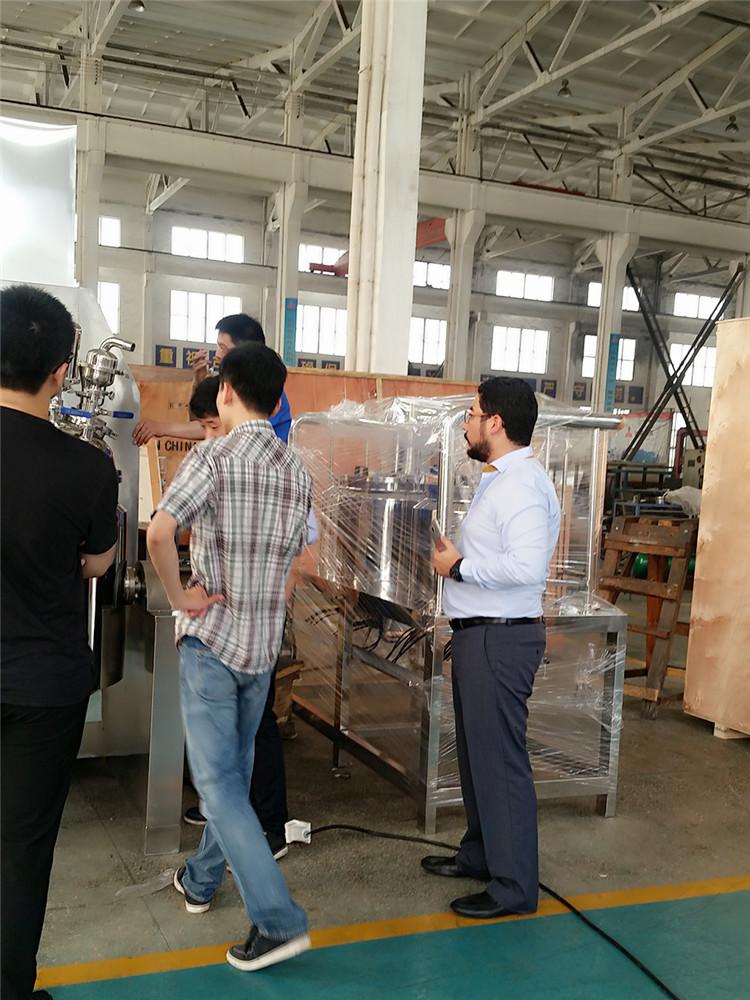 危地马拉客户考察真空均质乳化机设备