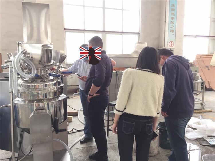 奶酪乳化生产试机-6等待物料加工