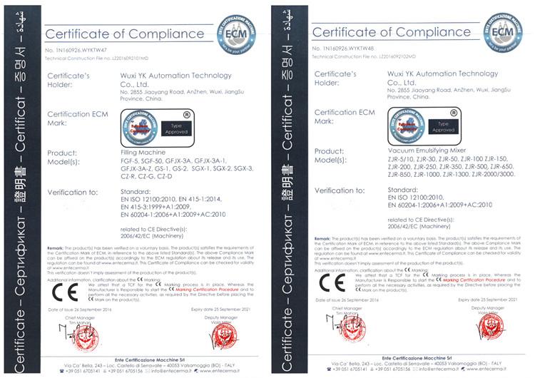 乳化机CE认证
