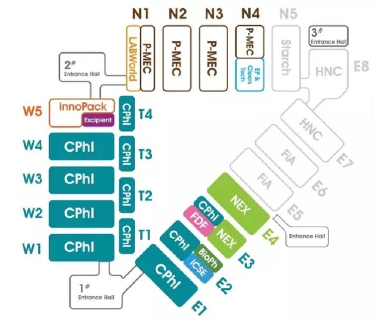 2017展馆平面图
