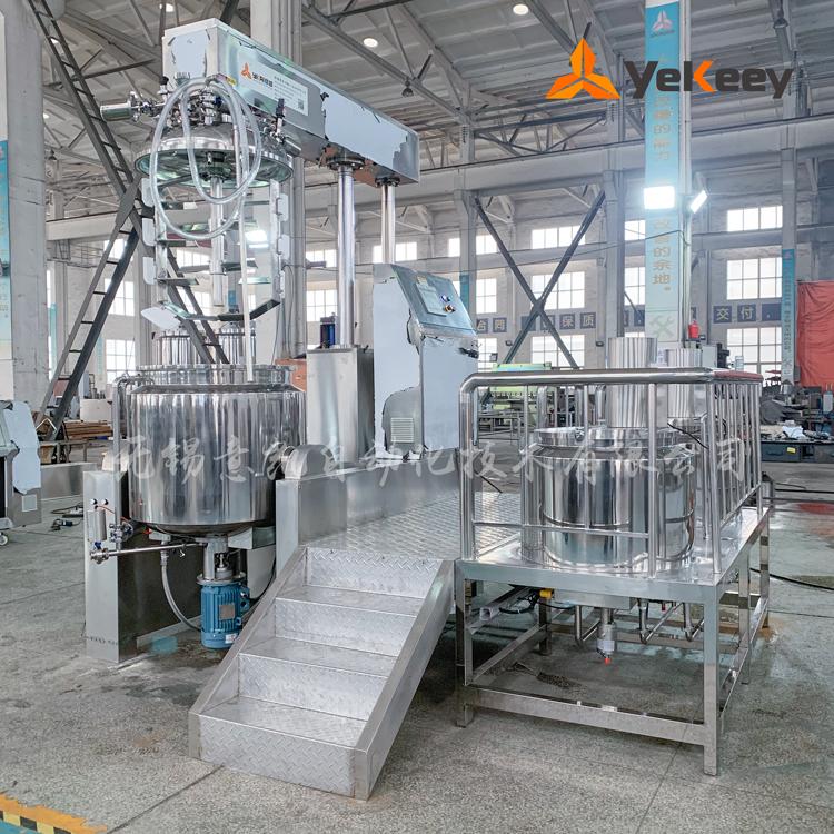 ZJR-350真空乳化机-PLC-水油锅-内外循环-下均质-20190329巴基斯坦-(1)