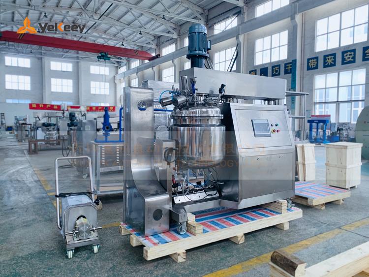 ZJR-100-PLC-真空乳化机-无水油锅
