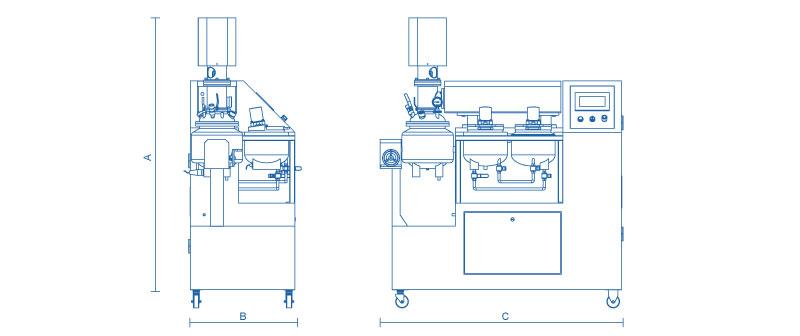 实验室乳化机外形尺寸