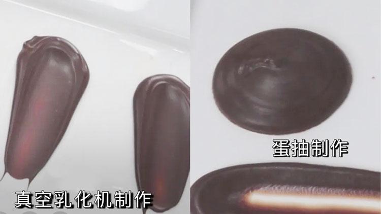 巧克力酱不同设备制作对比